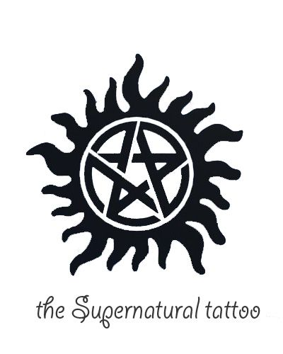 I NEED this anti-possession tattoo like Sam and Dean from Supernatural