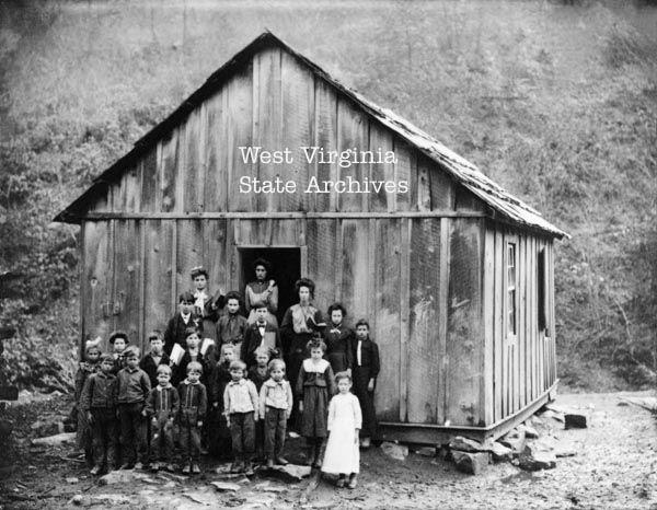 West Virginia History | Unidentified school . Class at unidentified school.