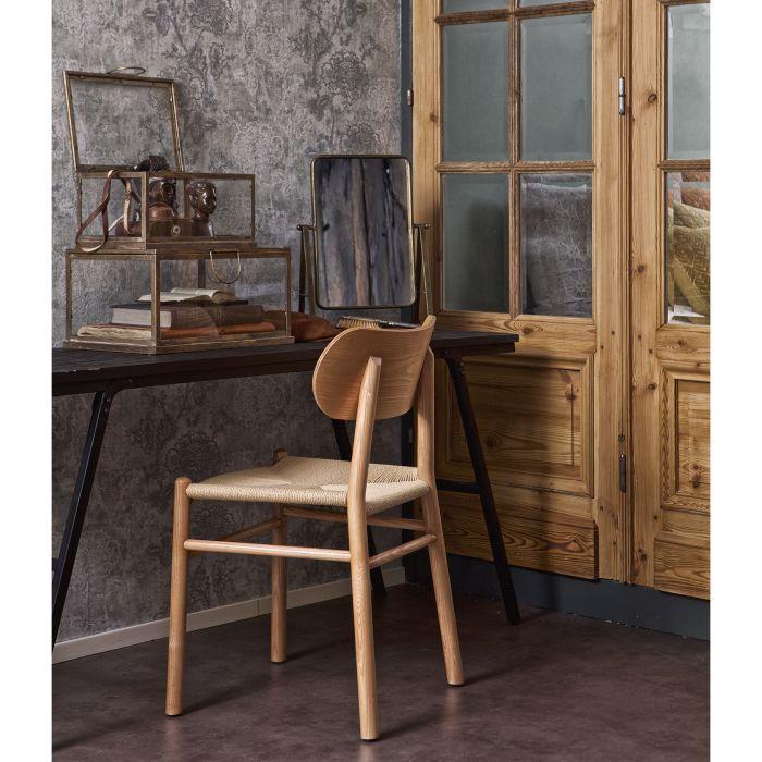 chaise en bois assise rotin tresse