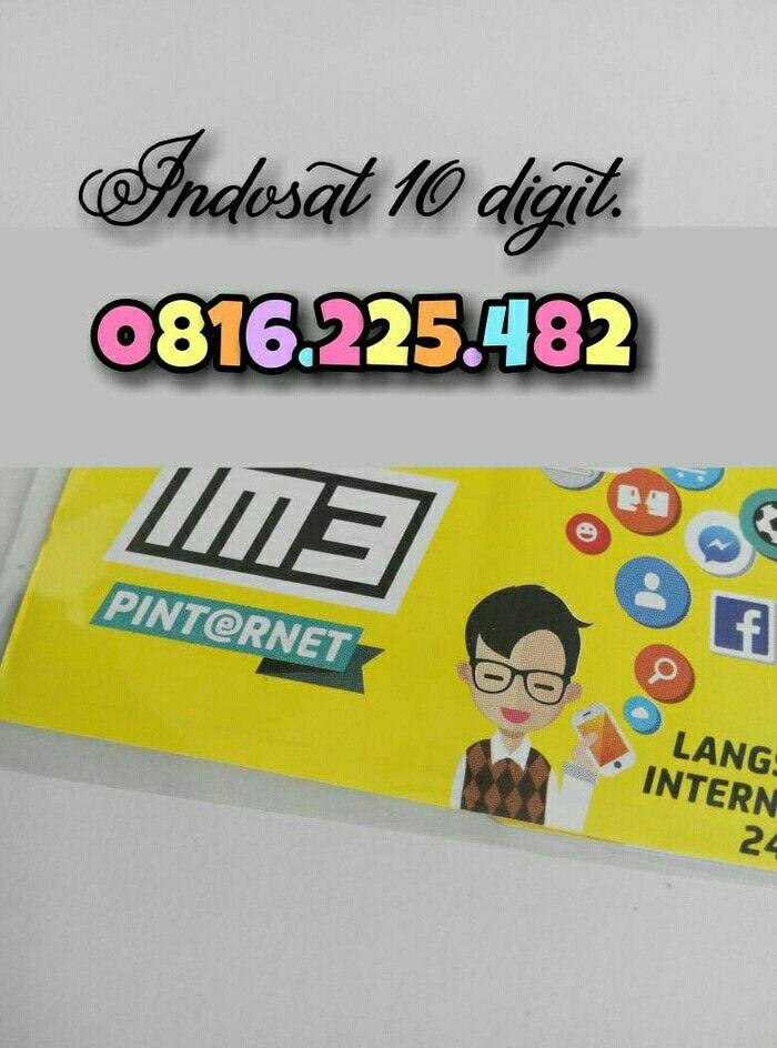 Fs: indosat 10 digit   O816.225.482  Minat call 085259999002   Atau di:  https://www.tokopedia.com/mnbvz/nomor-cantik-10-digit