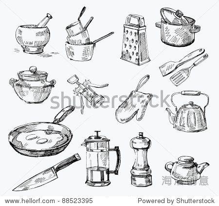 Kitchen Tools Drawings 133 best kitchen tools images on pinterest | kitchen, kitchen