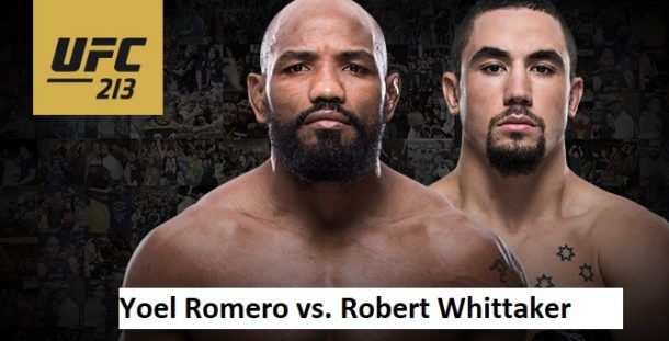 Watch UFC 213 Live Stream Watch UFC 213 Live Stream Free with the middleweight main titleRomero vs. Whittaker's bout at 10 PM ET at T-Mobile Arena, LAS VEGAS, NV. By the way, Nunes vs. Shevchenko's main title fights has been canceled becauseof Amanda Nunes illness. Romero vs. Whittaker Yoel