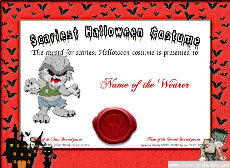 Best Costume Certificate Designer #Free #halloween templates You - certificate template maker