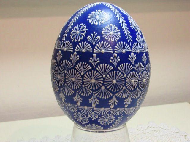 Pštrosí vejce - reliéfní vzor