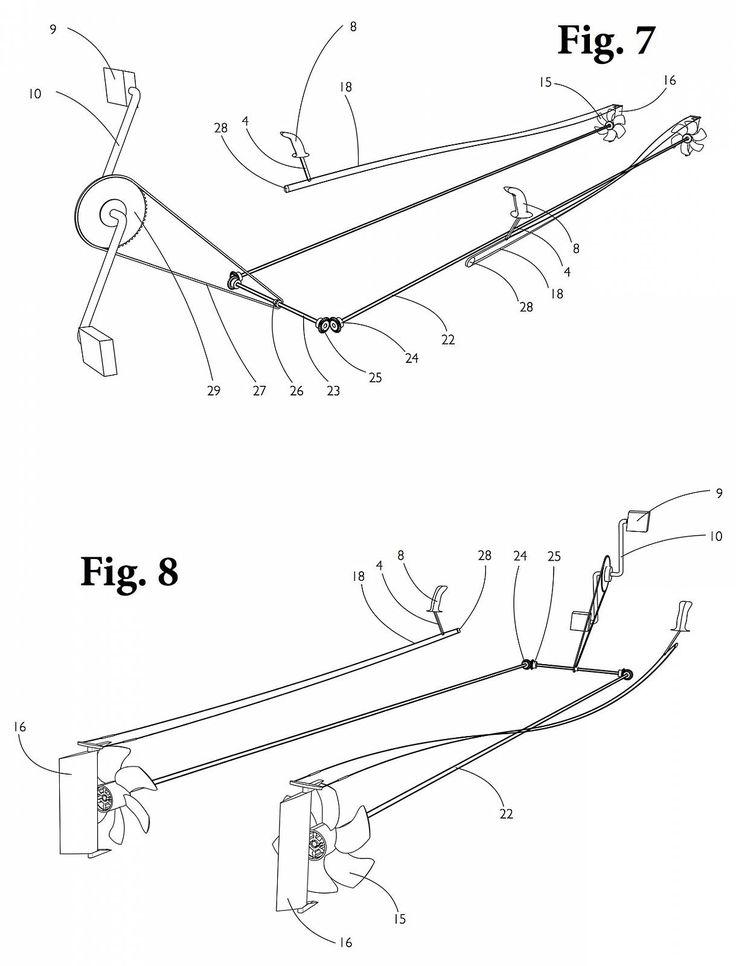 Resultado de imagem para diy pedal powered kayak