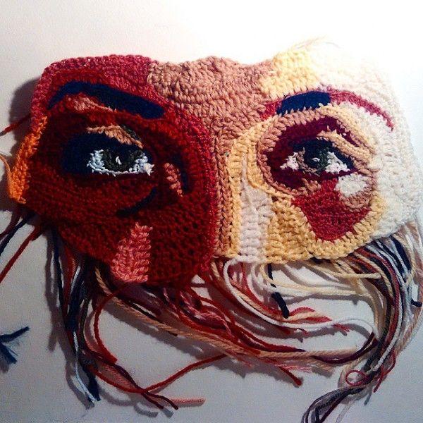 Beautiful #Art from Etsy #Crochet Portrait Artist KatikaCrochetArt