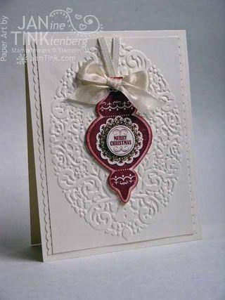 .: Christmas Cards, Holidays Ornaments, Border Punch, Scallops Ribbons, Cards Christmas, Circles Punch, Holidays Frames, Ornaments Keepsake, Xmas Cards