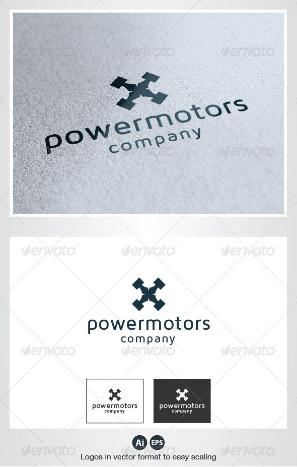 Power Motors Logo — Vector EPS #speed #company • Available here → https://graphicriver.net/item/power-motors-logo/2782231?ref=pxcr