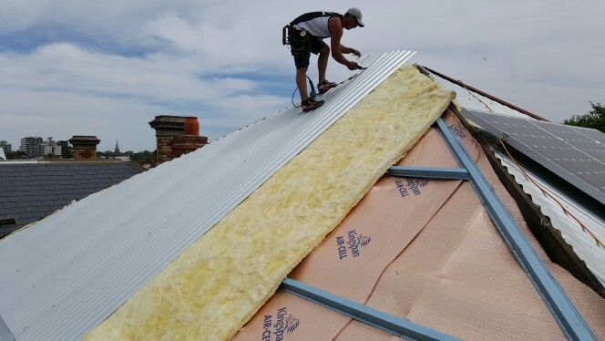 Aircell insulation with extra builders blanket insulation.  Click4Trades 1800487233