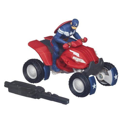 Captain America Marvel Blast 'N Go Combat ATV Vehicle - http://toyfiguresinaction.com/product/captain-america-marvel-blast-n-go-combat-atv-vehicle/