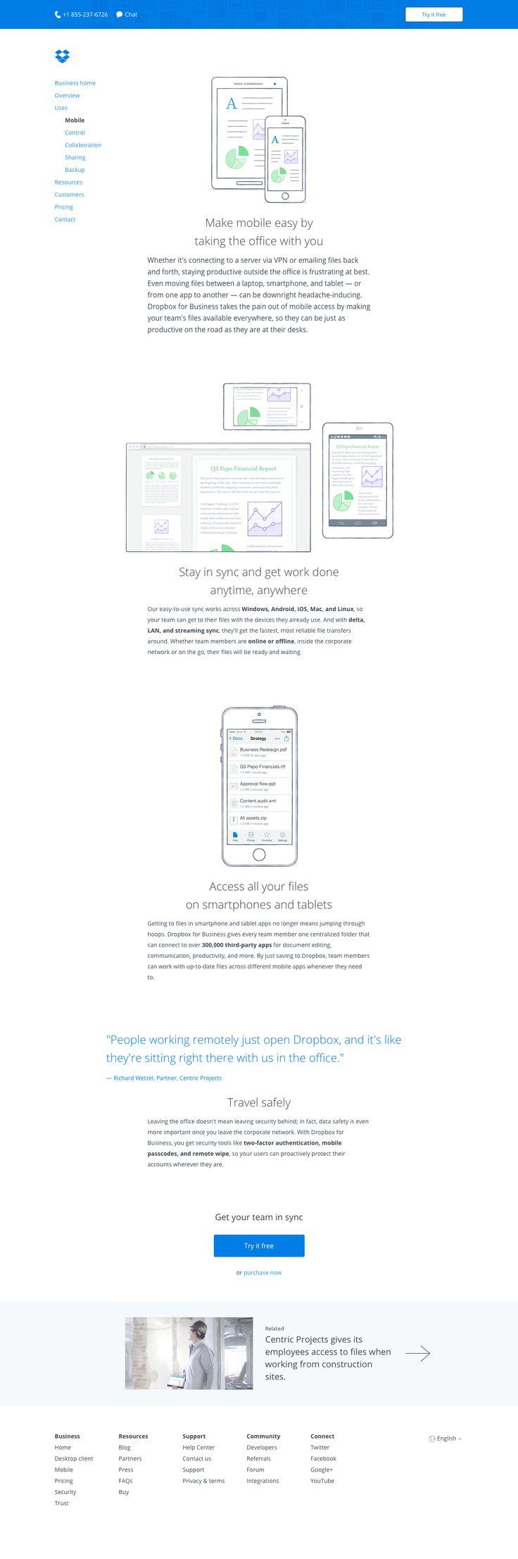 dropbox.com - Business/Mobile-access