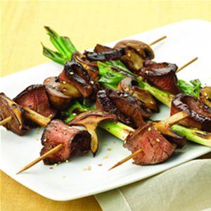 shiitake kabobs steak shiitake amp shiitake kabobs food kabobs recipe ...