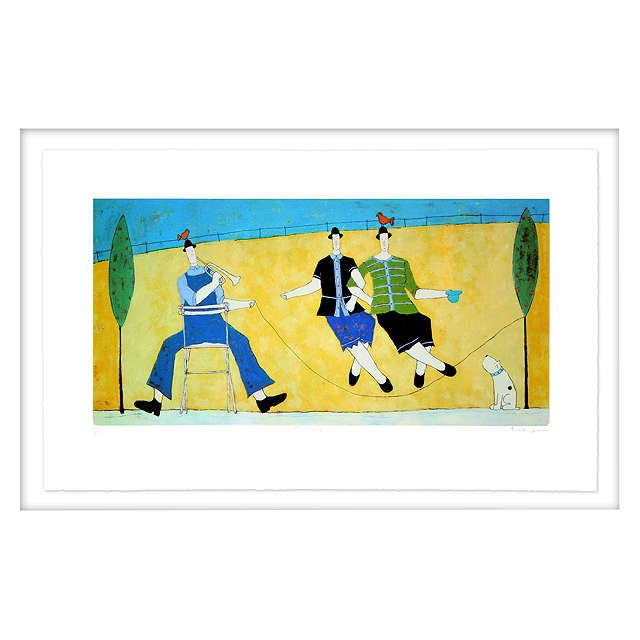 BuyAnnora Spence - The Skipping Rope Limited Edition Framed Screenprint, 64 x 97cm, White Frame Online at johnlewis.com