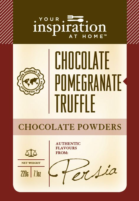 Choc Pomegranate Truffle $15.95+shipping Beverages  >  Chocolate Powders  > Purchase in support Daniel's Hidden Heroes (25% is donated)