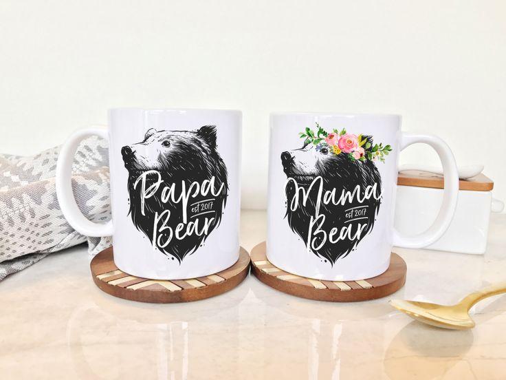 Mama Bear Mug, Papa Bear Mama Bear, Papa and Mama Bear, Papa Bear Mug, Papa and Mama Bear Mugs, Papa Bear Mama Bear Mugs, Papa Mama Bear by WillowandFoxCo on Etsy https://www.etsy.com/listing/486231116/mama-bear-mug-papa-bear-mama-bear-papa