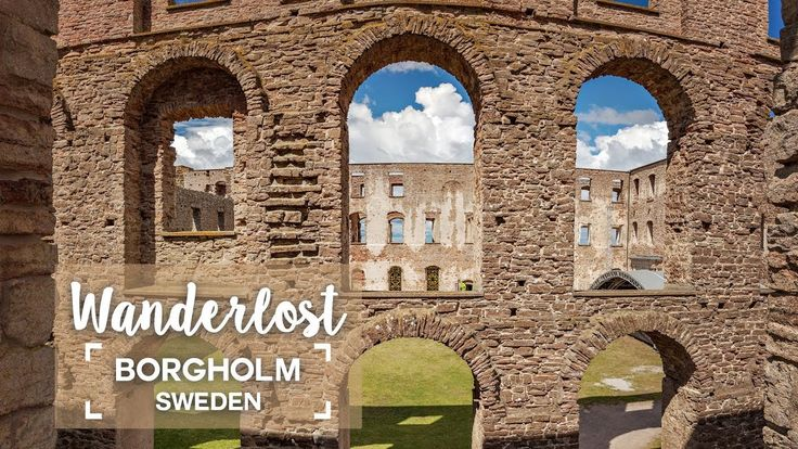 The Borgholm fort ruin on the island of Oland