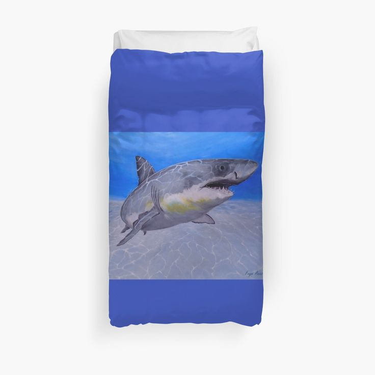 Duvet Cover, bed decor, for sale, home,accessories,bedroom,decor,cool,unique,fancy,artistic,trendy,unusual,awesome,beautiful,modern,fashionable,design,items,products,ideas,blue,shark,wild,animal,ocean,scene,deep,sea,wildlife, redbubble