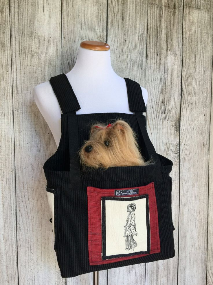 Small Pet Carrier- red dog carrier black dog carrier by HIPPYHOUNDDesigns on Etsy