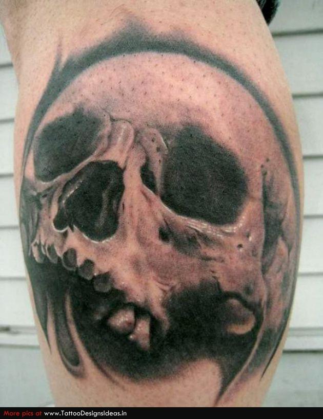skull on the calf