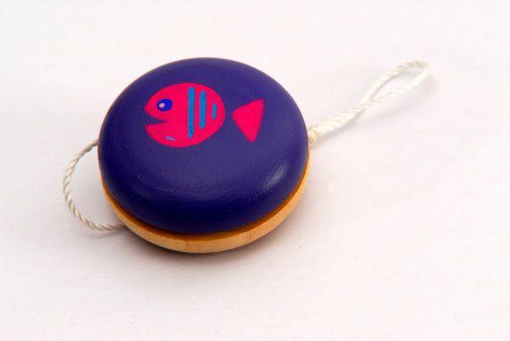 Yo-Yo (FISH), Handmade wooden toy, Natural organic toy, Classic game