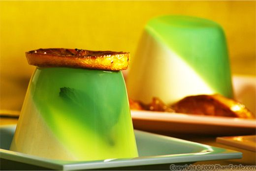 Meyer Lemon Panna Cotta with Mint Jelly Recipe