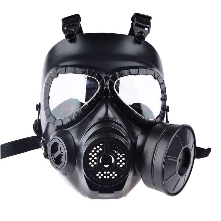 High Quality Tactical Resin Full Face Fog Fan Protection Head/Gas Mask
