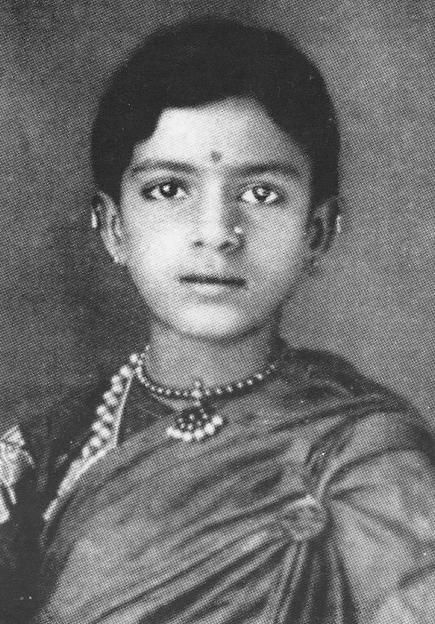 Carnatic Music Vocalist M.S.Subbulakshmi childhood photo