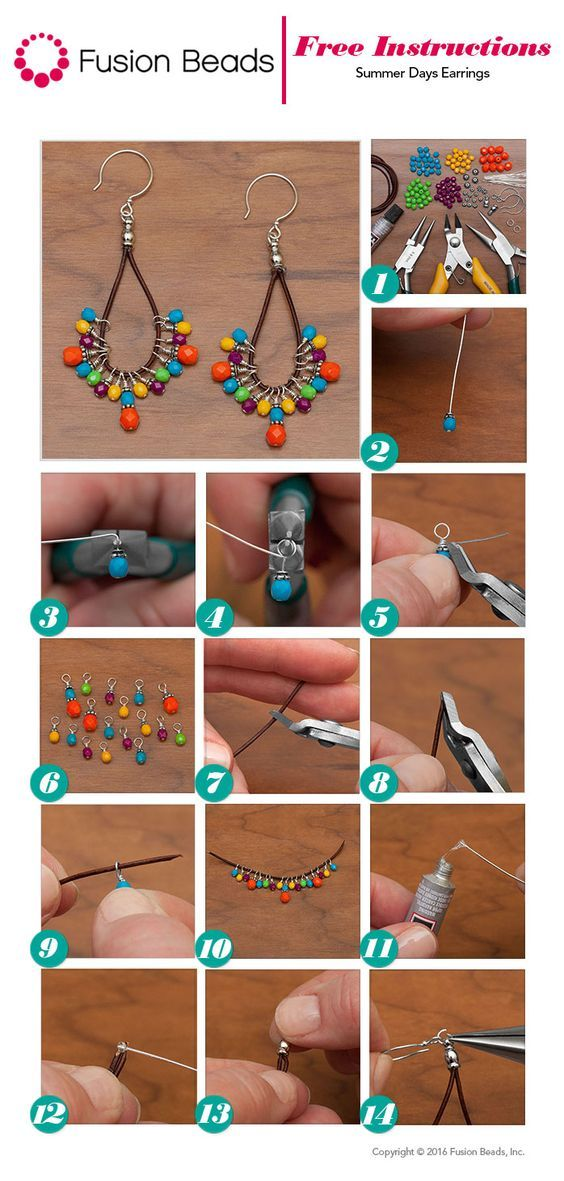 Use the super colorful Happy Fire Polished beads to make a trendy pair of DIY…
