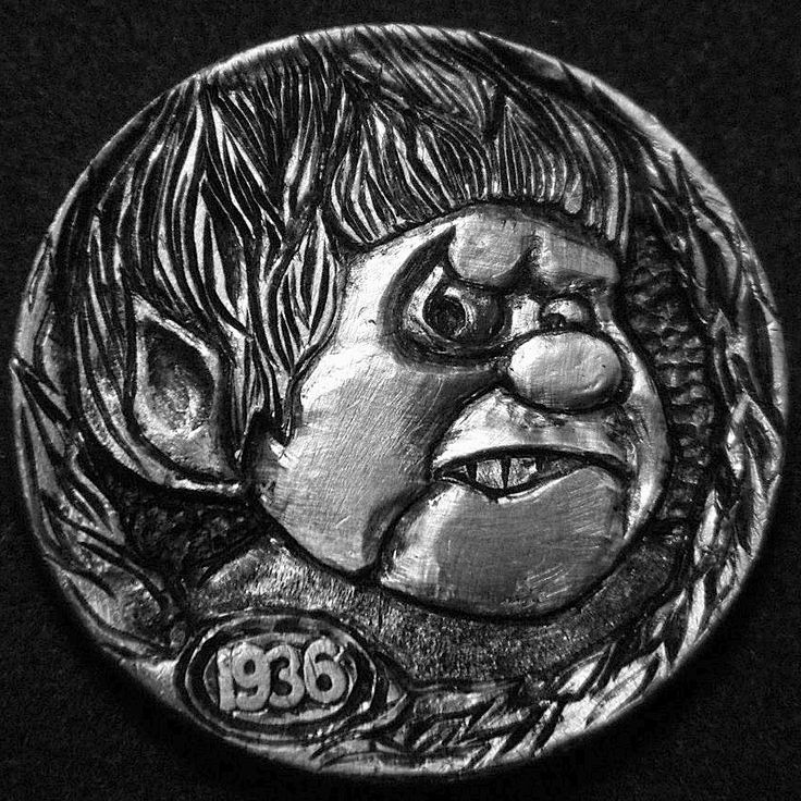 ROBERT MORRIS HOBO NICKEL - HEAT MISER FROM 'THE YEAR WITHOUT A SANTA CLAUS' - 1936 BUFFALO NICKEL