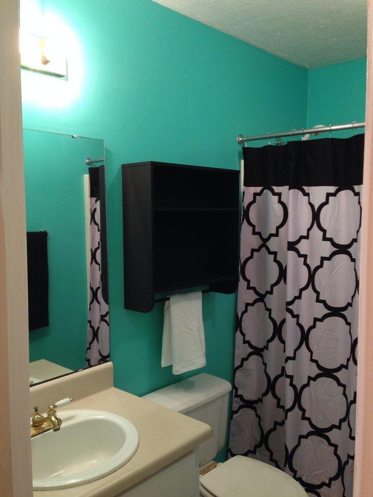 Tiffany Blue Bathroom Designs : Tiffany blue & black bathroom.  Future home  Pinterest