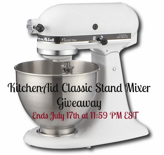 Enter to Win Your Own KitchenAid Classic Stand Mixer  #Giveaway on InTheKitchenWithKP.com
