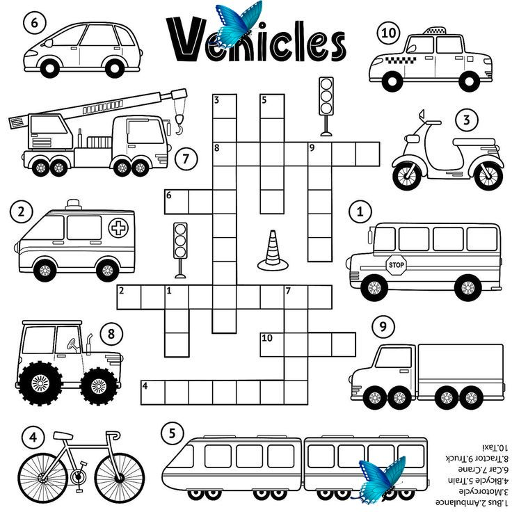Crossword Puzzles For Kids Fun Free Printable Crossword Puzzle Coloring Page Activities For Children Printables 30seconds Mom Crossword Puzzles For Kids I 2020