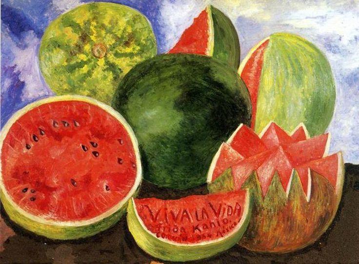 """""""Viva la Vida"""", öl von Frida Kahlo (1907-1954, Mexico)"""