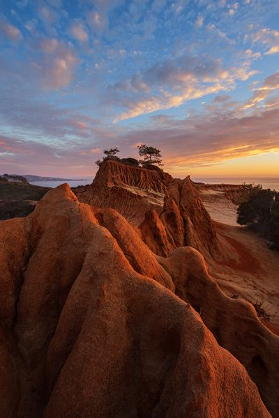 Broken Hill Sunset. La Jolla, California, Usa.