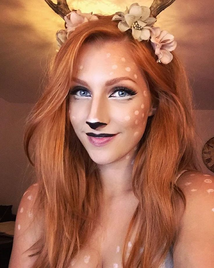"Happy Halloween my ""Deers""! ❤️ (I know I'm late ) #halloween #faun #fawn #deer #dryade #bambi #costume #redhair #redhead #ginger #gingerhair #pan #faunus #nature #wood #mythic #creature #fantasy #satyr #waldgeist #fauna #hirsch #druid #druide"