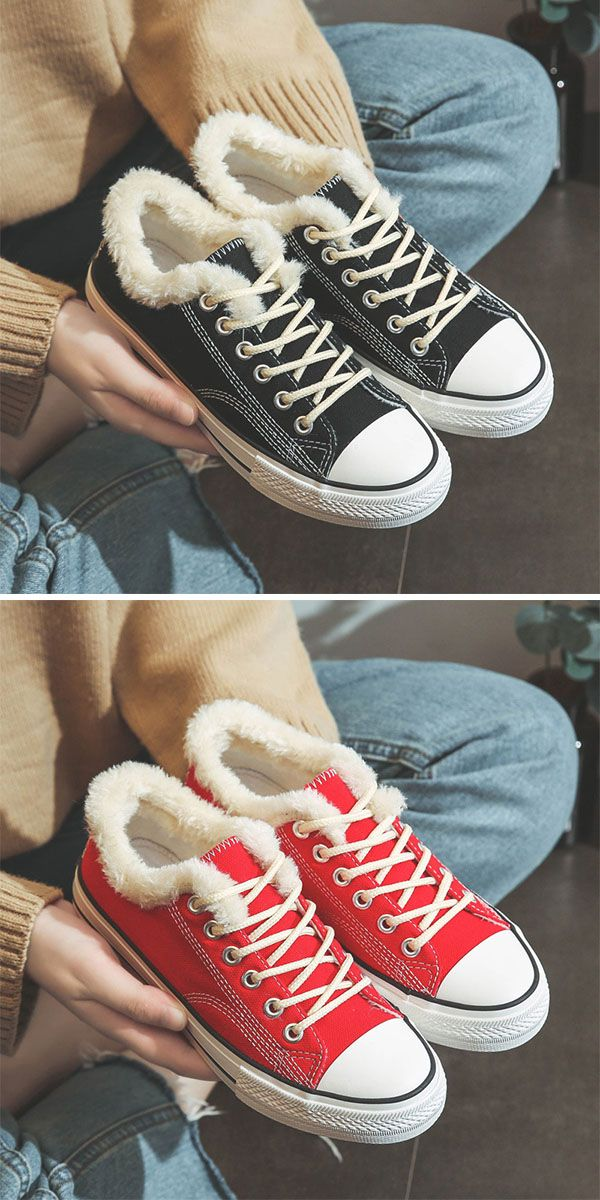 2df5953e8337 Hot Sale!Womens Casual Canvas Snow Sneakers Snow Sneakers