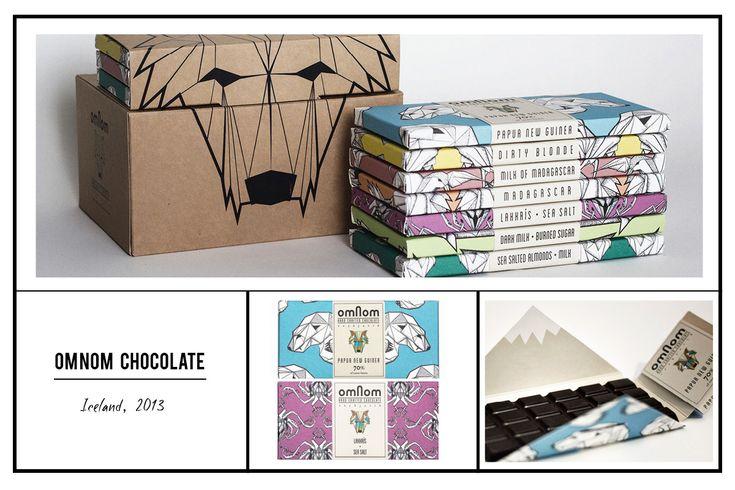 Omnom Chocolate package design