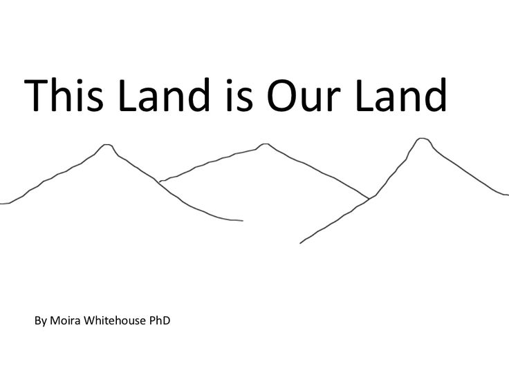 Landforms..this land is our land (Teach) by Moira Whitehouse via slideshare