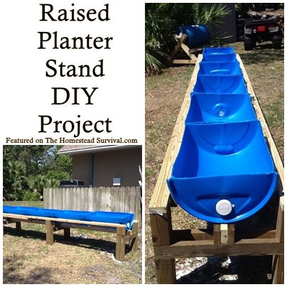Raised Planter Gardening Stand DIY Project - Great for Deck and patio gardens, small yard vegetable gardening