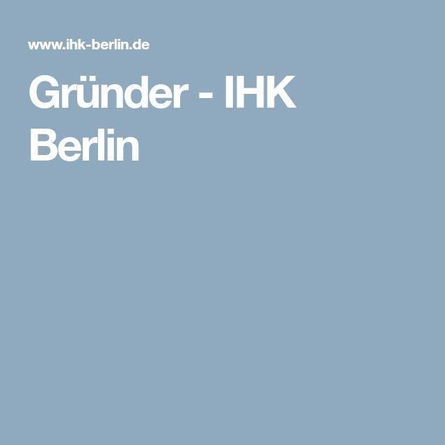 Gründer - IHK Berlin
