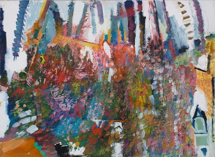 Rozsda Endre: Fás kompozíció / Composition of trees  - 1980 - 73x100 cm - olaj, vászon I oil on canvas
