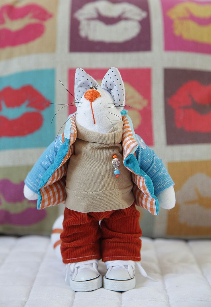Toys+things: Котик голубая бирюза