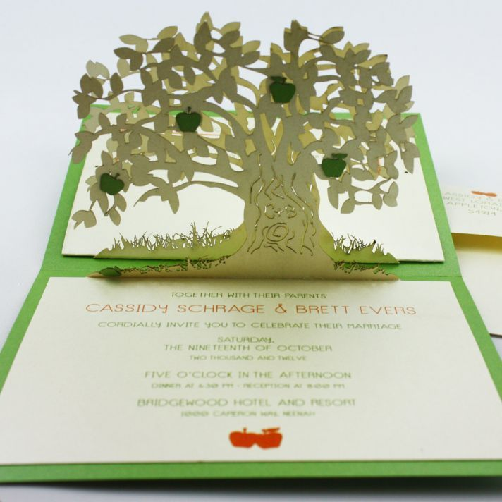 But really, how cool are pop-up #wedding invitations?!? Every wedding needs a little whimsy :)