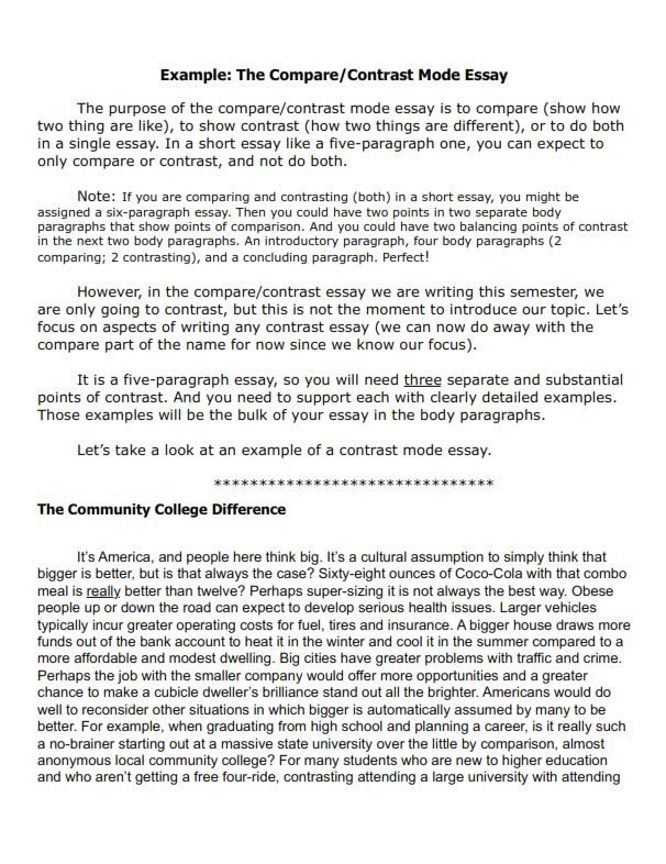 Free Compare And Contrast Essay Examples For Your Help In 2021 Essay Examples Essay Essay Writing Examples