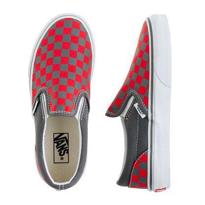 Love! / Boys' Vans® checkerboard slip-ons
