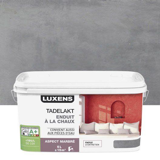 Peinture à effet, Tadelakt LUXENS, gris galet 3, 5 l 49,90€ Leroy Merlin