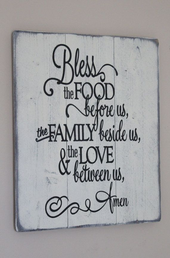 Bless The Food Before Us Family Beside Love Between Amen Vinyl Wall Decal Or Quote For Your Kitchen