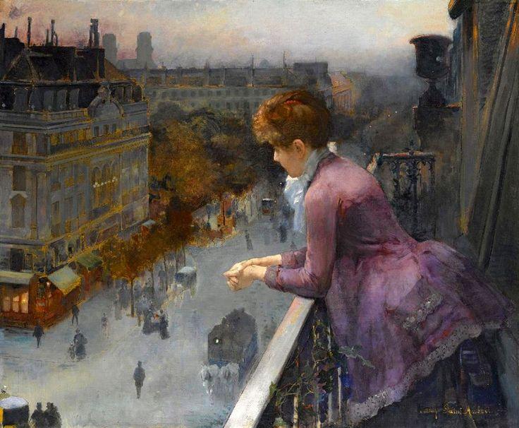 Au Dessus Du Boulevard De Sebastopol, Paris, by Charles Leroy Saint Aubert