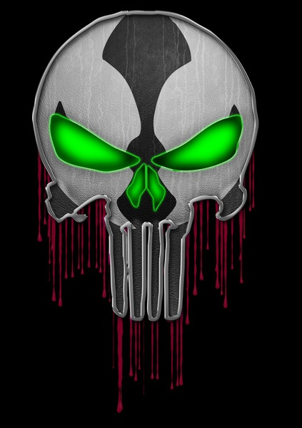 Punisher Spawn Mash-Up Art Print