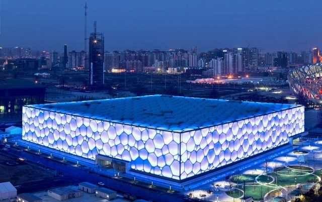 Centro Aquático Nacional em Pequim, China